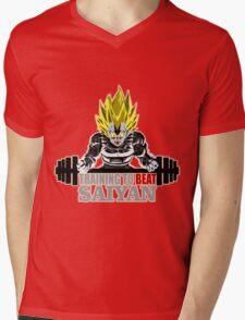 TRAIN-SAIYAN Mens V-Neck T-Shirt