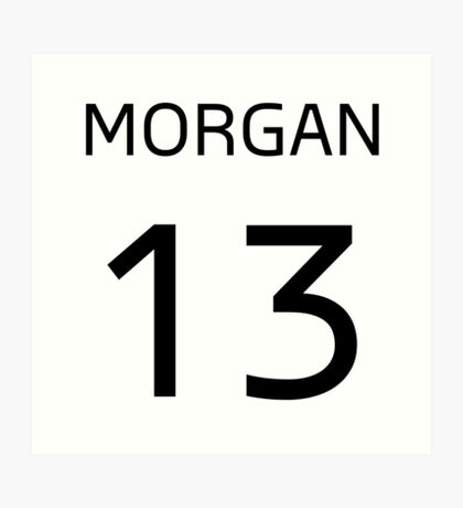 MORGAN 13 Art Print
