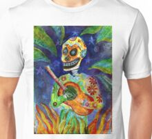 Mariachi Gutar Player Day of the Dead Skeleton Unisex T-Shirt