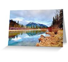 Policeman's Pond Canmore, Alberta, Canada Greeting Card