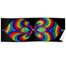 Psychedelic Abstract colourful work 196(part) Poster