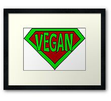 Hero, Heroine, Superhero, Super Vegan Framed Print
