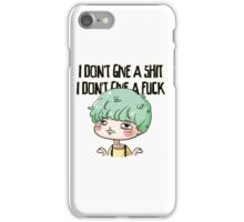 Yoongi doesn't give a sh*t iPhone Case/Skin