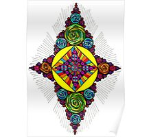 Psychedelic Abstract colourful work 205(part) Poster