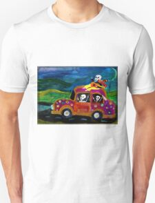 Day of the Dead hippies on a road trip Unisex T-Shirt