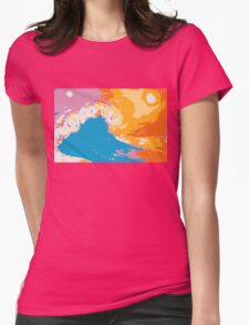 Hand of the Ocean Womens Fitted T-Shirt