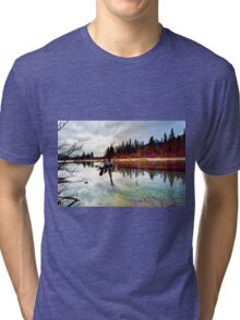 Policeman's Pond, Canmore, Alberta, Canada Tri-blend T-Shirt