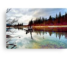 Policeman's Pond, Canmore, Alberta, Canada Canvas Print