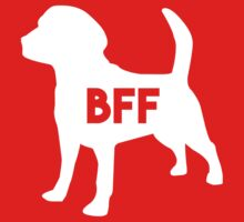 Pet BFF - Dog Best Friend Forever (white silhouette, color background) One Piece - Short Sleeve