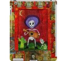 Day of the Dead Mariachi Musician Guitar Player with dog  iPad Case/Skin