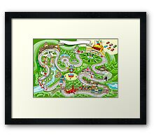 Cars Racing Tale Game Fantasy Framed Print