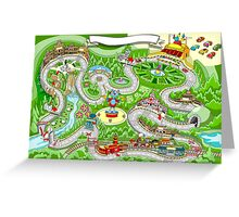 Cars Racing Tale Game Fantasy Greeting Card