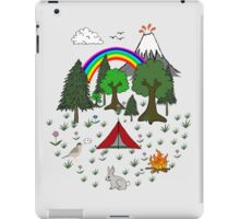 Cartoon Camping Scene iPad Case/Skin