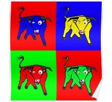 bull warhol like Poster