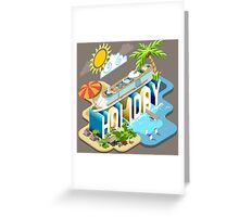 Cruise-Holiday-Vehicle-Isometric Greeting Card