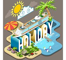 Cruise-Holiday-Vehicle-Isometric Photographic Print