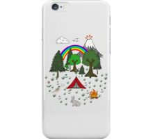 Cartoon Camping Scene iPhone Case/Skin