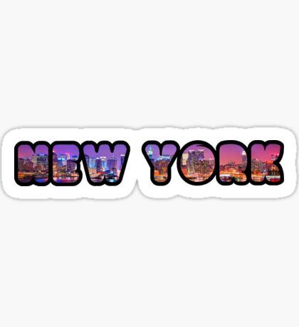New York City Skyline Bubbler Sticker