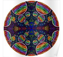 Psychedelic Abstract colourful work 242(part) Poster