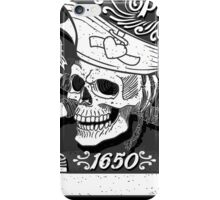 Jolly-Roger-Pirate-Flag-Blackboard iPhone Case/Skin