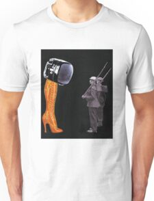 Under Scrutiny of the Boot Unisex T-Shirt