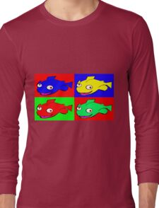 Fish warhol like Long Sleeve T-Shirt