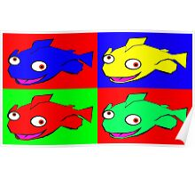 Fish warhol like Poster