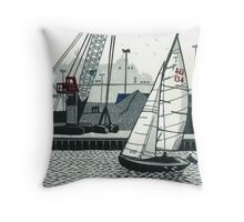 Poole Quay Throw Pillow