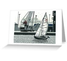 Poole Quay Greeting Card