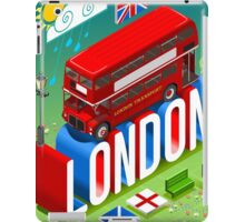 London-Bus-Postcard-Isometric iPad Case/Skin
