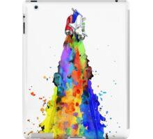 Rainbow Spaceship Light Background iPad Case/Skin