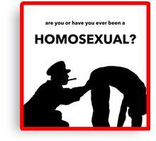 A Clockwork Homosexual Canvas Print