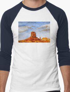 monument valley - utah Men's Baseball ¾ T-Shirt