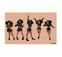 Black, Proud, & Carefree Art Print