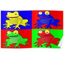 Frog warhol like Poster