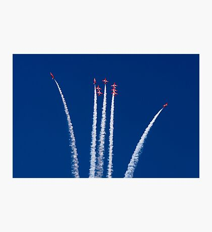 Red Arrows Split Photographic Print