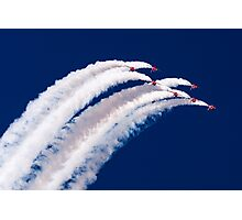 Red Arrows and Smoke Photographic Print