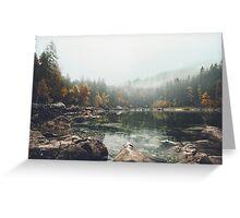 Lake serenity landscape photography Greeting Card