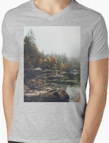Lake serenity landscape photography Mens V-Neck T-Shirt