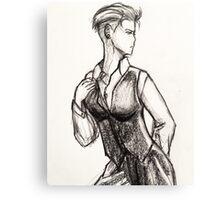Busty White Duchess-Zoe Canvas Print
