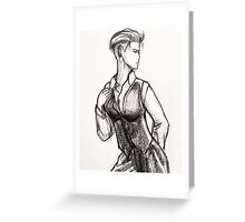 Busty White Duchess-Zoe Greeting Card