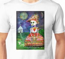 KATRINA walking her dog - Day of the Dead Unisex T-Shirt