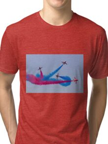 Red Arrows Red and Blue Break Tri-blend T-Shirt