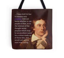 Keats Tote Bag