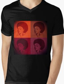 Black Female Pride  Mens V-Neck T-Shirt