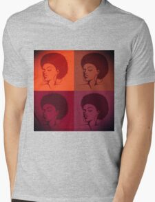 Black Female Pride  Mens V-Neck T-Shirt