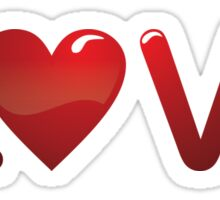 Love Red In Heart Sticker