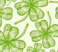 Seamless clovers pattern Sticker