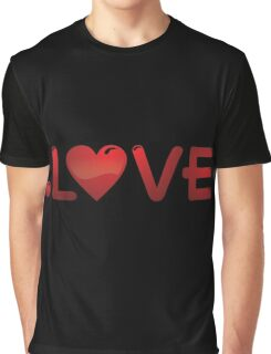Love Red In Heart Graphic T-Shirt