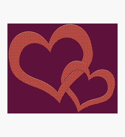 Love Heart Hearts Red  Photographic Print